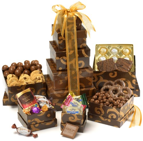 Broadway Basketeers Gourmet Chocolate Gift Tower - Valentines Day