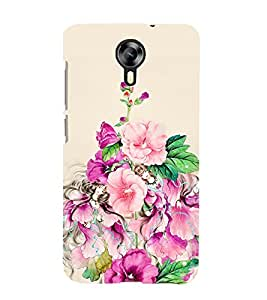 Floral Painting Cute Fashion 3D Hard Polycarbonate Designer Back Case Cover for Micromax Canvas Xpress 2 E313