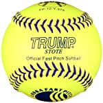 Trump® FP-12-Y-375 USSSA 47/375 12 Inch Leather Fastpitch Softball Sold in Dozens)