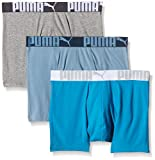 Puma Herren Boxer Shorts 3P Weich Stoff Sports Athletic Hose