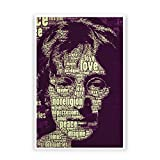 PosterGuy John Lennon Typography Art Famous Personality Poster (A4)