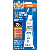 Permatex 80631 Thread Sealant with PTFE, 1 oz.