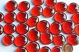 30 St. Deko Mosaiksteine Glasnuggets transp. 17-20mm rot ca 130g