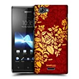 Head Case Designs Cardinal Modern Baroque Hard Back Case Cover for Sony Xperia J ST26i