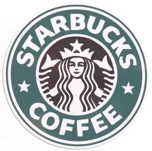 Starbucks logo sticker predecessor waterproof seal (japan import) by Landcar