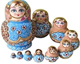 NuoYa001 Limited Edition Popular Set of 10pc Russian Nesting Dolls Russian Matryoshka