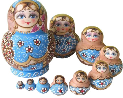 Buy Cheap NuoYa001 Limited Edition Popular Set of 10pc Russian Nesting Dolls Russian Matryoshka