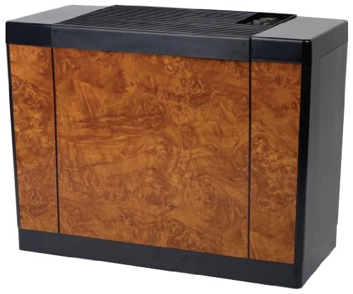 Essick Gallon Console Style Evaporative Air Whole House Humidifier of Unit Capacity 5.5 gallons in Oak Burl (447 400HB)
