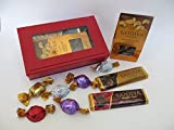 Christmas Gift for Mom, for Grandma, Red Trinket Box Filled with an 8 Assortment of Godiva Chocolates truffles Including Bars