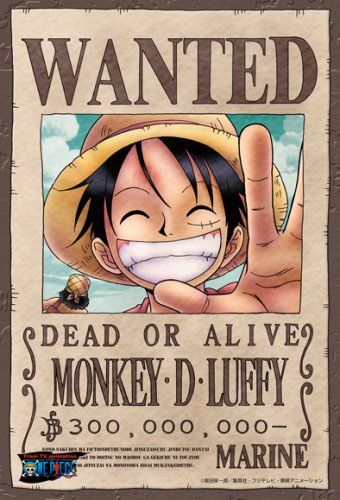 One Piece Monkey D. Luffy Wanted Poster Puzzle 150 Piece