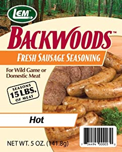 Lem Products Backwoods Fresh Sausage Hot Seasoning from LEM Products