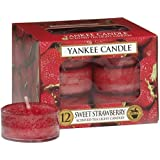 Yankee Candle 12-Piece Tea Lights, Sweet Strawberry