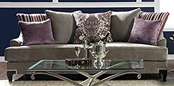 Viscontti Sofa In Silver by Furniture of America