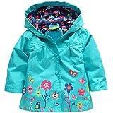 Arshiner petit Mantau imperméable de fille à capuche couleur multipliée raincoat substitut de parapluie