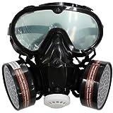 防塵マスク ゴーグル セット 活性炭フィルター4個付き
