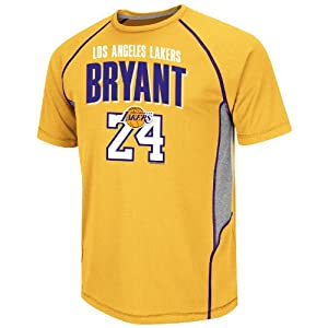 Los Angeles Lakers Kobe Bryant Jump Hook Name and Number T-Shirt by VF