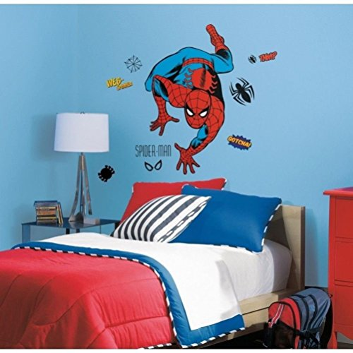 """Defonia Spiderman 38"""" Giant Wall Decals Classic Room Decor Stickers Comic Book"""