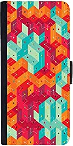 Snoogg Cool Colourful Lines Graphic Snap On Hard Back Leather + Pc Flip Cover...