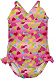 i play. Baby-girls Infant Ultimate Swim Diaper Triangle Tanksuit, Hot Pink Bird and Hearts, 24 Months