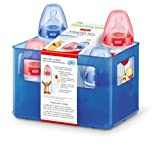 NUK Disney First Choice 10225078 Starter Set with 4 Anti-Colic Wide-Mouth Bottles and Bottle Box