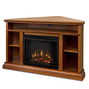 Winston ventless electric entertainment center indoor for Indoor corner fireplace
