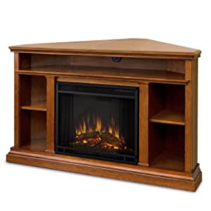 Winston Ventless Electric Entertainment Center Indoor Corner Fireplace Oak