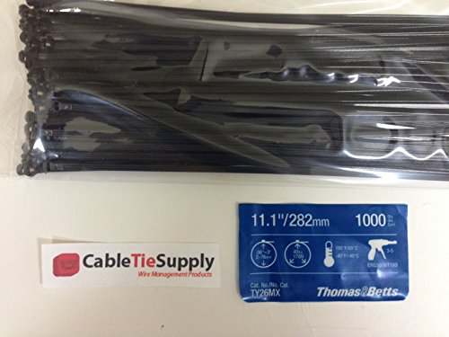 "Thomas And Betts Tr Ty526Mx Cable Tie 30Lb 11"" Uv Bl (Pack Of 100)"