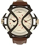 RODEC forest brown strap mens analog watch