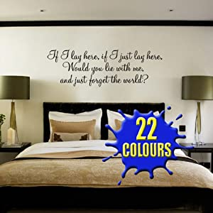 If I lay here, if I just lay here...(Snow Patrol Lyrics) - Wall Sticker