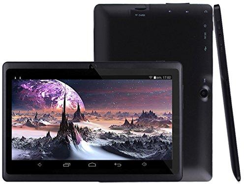 Osgar Ultrathin 7 inch 16GB Tablet PC,HD 1024*600, Google Android 4.4 OS, Allwinner A33 1.3GHz,Quad Core CPU,Dual Camera,Wifi (Black)