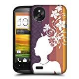 Head Case Violet Floral Silhouette Protective Back Case Cover For Htc Desire X