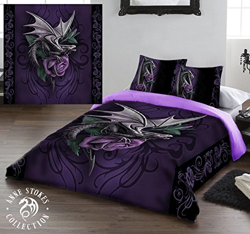 DRAGON BEAUTY Duvet & Pillows Case Covers Set for Double Bed Artwork by Anne Stokes