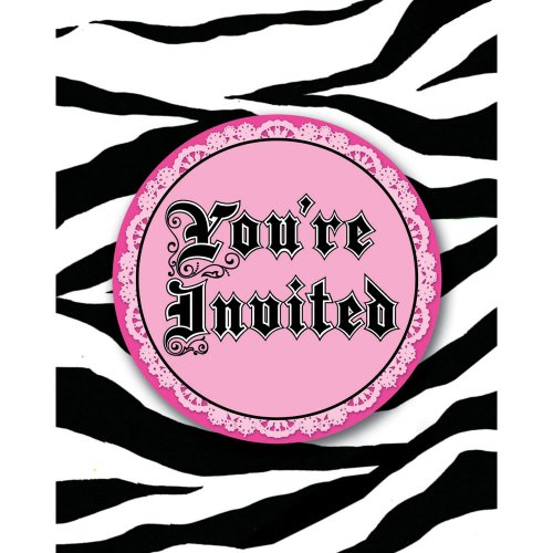 Creative Converting Super Stylish 8 Count Enhanced Party Invitations