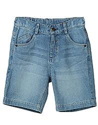 Beebay Boys 100% Cotton Woven Denim Shorts (B0516119800410_Denim Blue _4 Years)