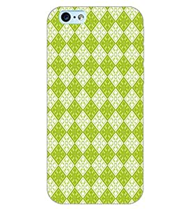 PrintDhaba GREEN SQUARE PATTERN D-6719 Back Case Cover for APPLE IPHONE 6S PLUS (Multi-Coloured)
