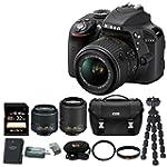 Nikon D3300 DSLR Kit w/ 18-55 & 55-20...