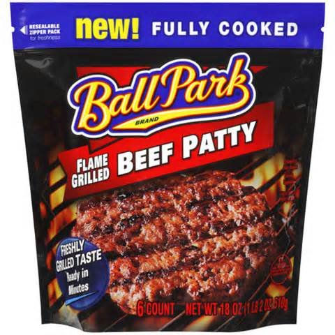 BALL PARK PATTIES BEEF FLAME GRILLED ORIGINAL  via Amazon
