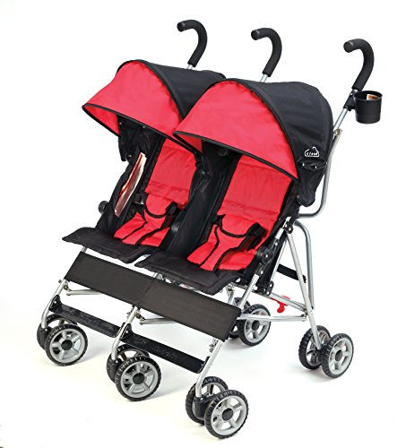 Review Kolcraft Cloud Side by Side Umbrella Stroller, Scarlet