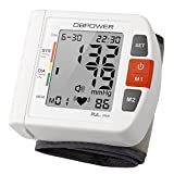 Professional Wrist Digital Blood Pressure Monitor By DBPOWER, High Accurancy, 90 Memories,Two User Modes With IHB and WHO indicater, FDA Certified