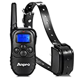 Anpro DC-25 330 yards Rechargeable Remote Dog Training Collar with Beep, Vibration and Shock for 15 to 100 lb Breed Dog Vibration/Shock Electronic Electric Bark Collar