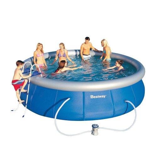 Riesiger transportabler swimming pool 457cm schwimmbecken for Rundpool aufblasbar