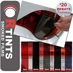 Tail Light Tint BMW 6 Series Coupe Convertible F12 F13 640i 650i 650i xDrive 2012 2013 - Midnight (Static Cling, No Adhesive)
