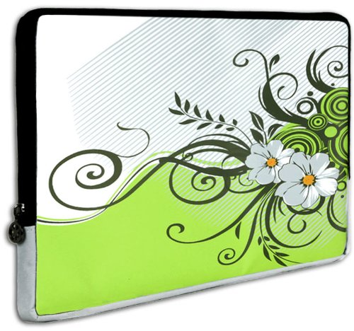 11.6 inch Green Floral Garden Notebook Laptop Sleeve Bag Carrying Case for Acer Aspire One 11.6