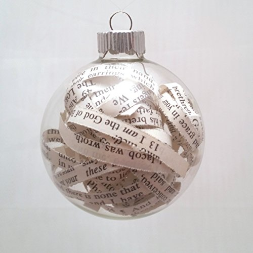 Vintage Bible Christmas Ornament