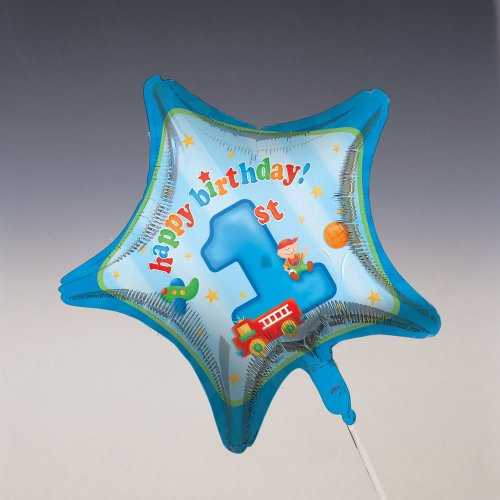 "Creative Converting Boy's Playtime 1st Birthday 18"" Foil Balloon"