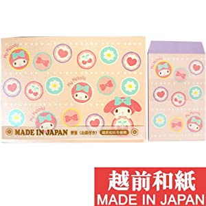 [My Melody]Made in Japan Echizen paper sachets & stationery face