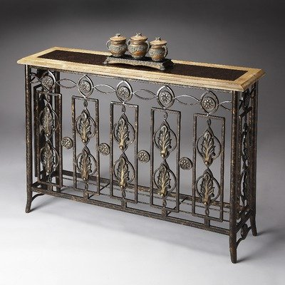 Image of Metalworks Console Table in Distressed Bronze (B003XKQGOS)