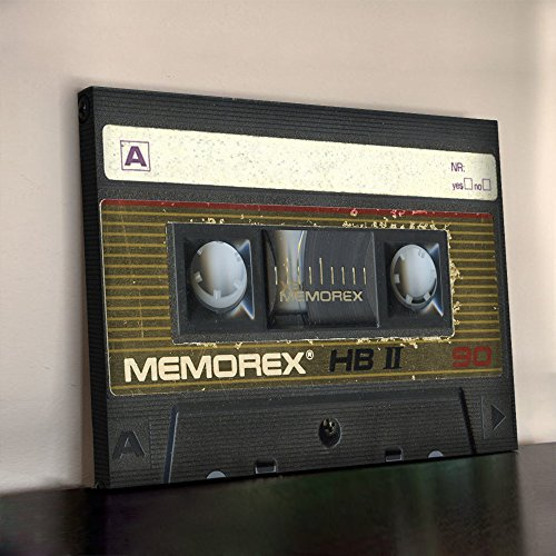 memorex-cassette-tape-art-print-340gsm-framed-xl-30x20-inch-heavyweight-cotton-canvas-office-wall-pi