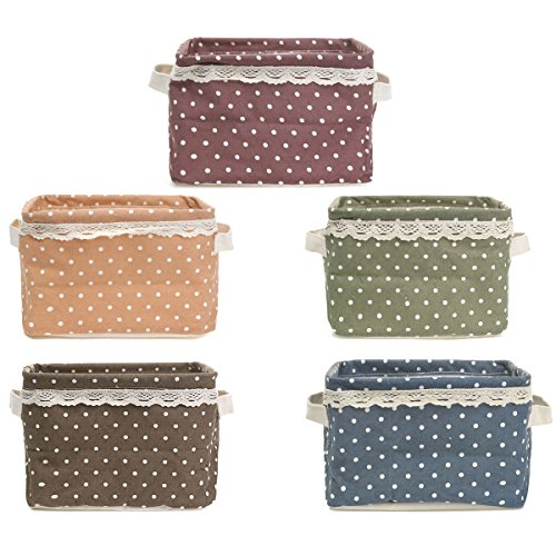 Panno di tela Desktop Tidy tessuto pieghevole Storage Box Jewelry vario di cancelleria Basket Point Organizer