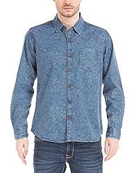 Shuffle Men's Casual Shirt (8907423058736_2021537401_Medium_Blue)
